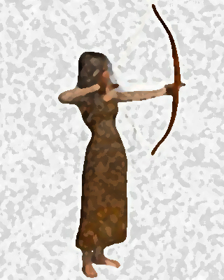 girl with arrow